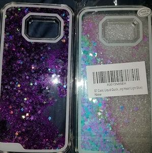 Floating Glitter Samsung Galaxy S7 Cases X2